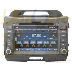 Autoradio 2din Navigatore KIA SPORTAGE DVD CD GPS USB DVBT