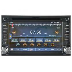 Autoradio 2din Navigatore UNIVERSALE HYUNDAI DVD CD GPS USB DVBT