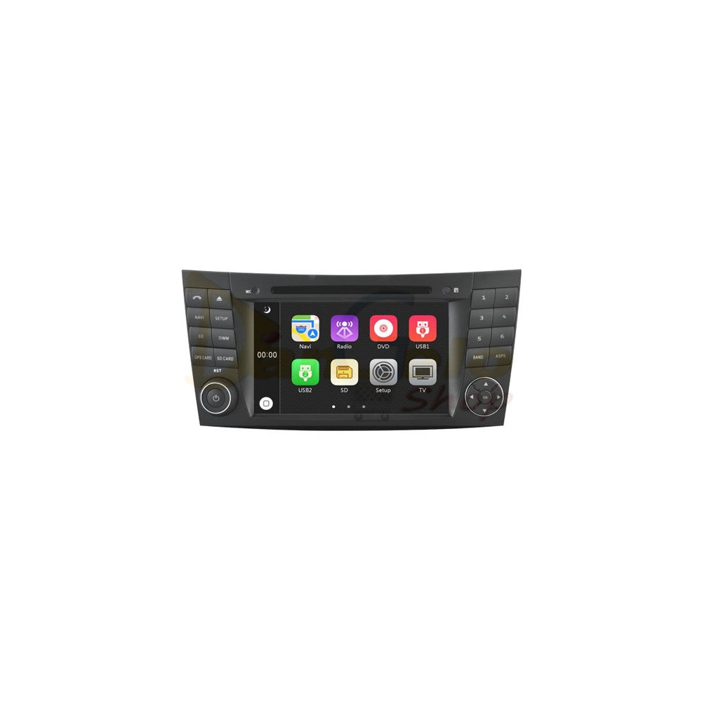 Autoradio 2din Navigatore Mercedes Classe E-G-CLS DVD CD GPS USB