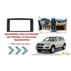 Mascherina Autoradio 2din Volkswagen Touareg  / T5 Multivan / Transporter