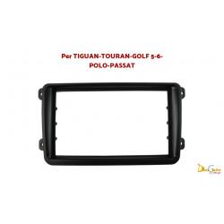 Mascherina Autoradio 2din Volkswagen Tiguan / Touran / Golf / Passat / T5