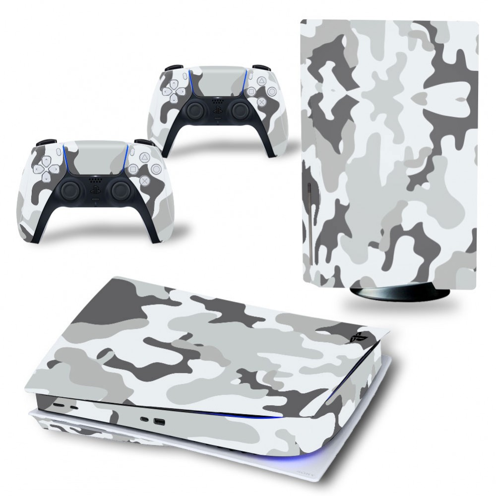 PS5 Disk Console Skin Stickers Camouflage