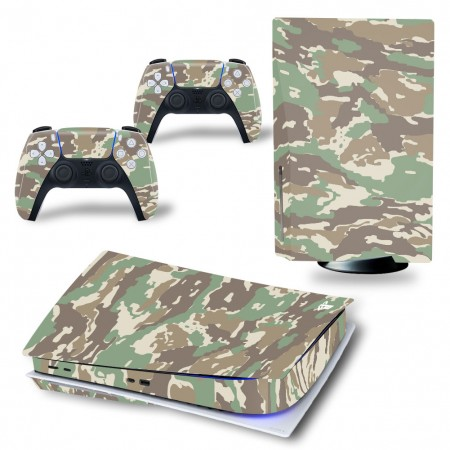 Skin PS5 Disk Stickers Camouflage Mimetica Cover Adesiva Vinile PlayStation 5