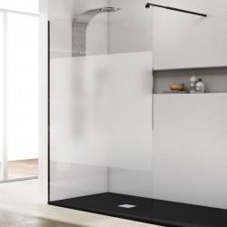 doccia walk in parete fissa con profilo nero 195 cm