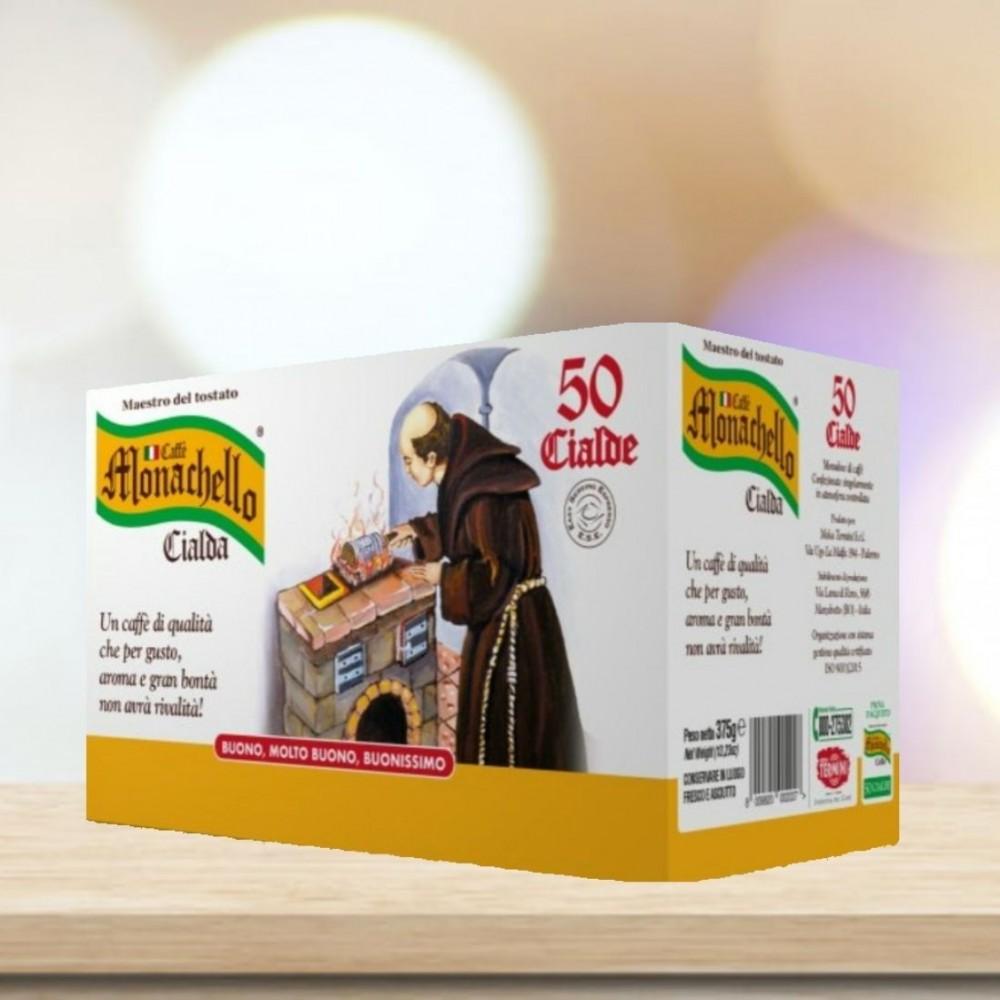 Cialde in Filtro Carta Caffè Monachello 50 pezzi