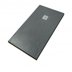 piatto doccia in marmo resina filo pavimento Trix grafite