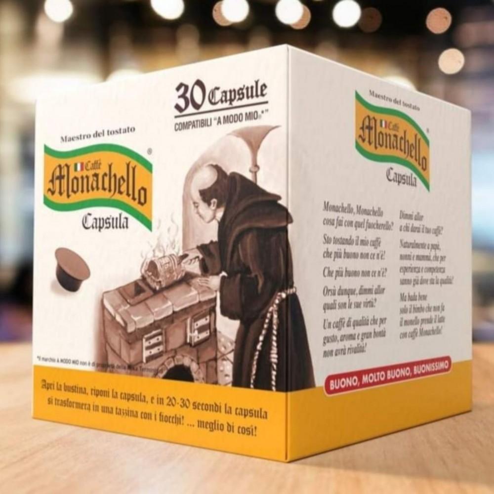 50pz Capsule Caffè Monachello compatibili Lavazza A Modo Mio