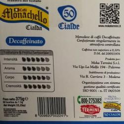 50 Cialde filtro carta Caffè Monachello Decaffeinato