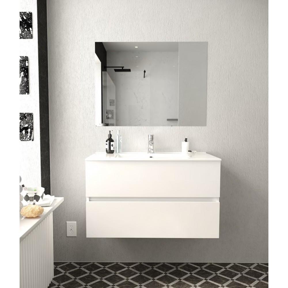 composizione bagno sospeso MICHELANGELO 80cm con lavabo in ceramica