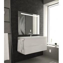 mobile bagno sospeso di desgn MICHELANGELO 100cm lavabo resina specchio led