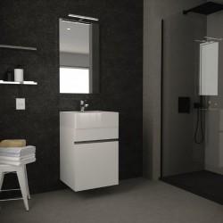 composizione mobile bagno sospeso moderno bianco 60