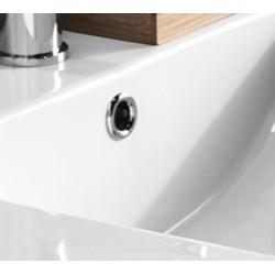 Mobile bagno 60cm a terra Rovere Scuro con lavabo in ceramica e specchio